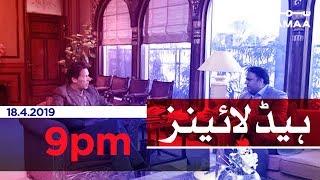 Samaa Headlines - 9PM - 18 April 2019