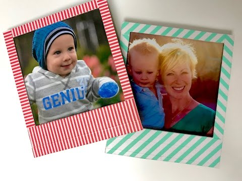 Stampin' Up! Photo Magnets for the fridge using Washi Tape