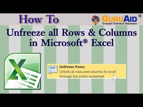 How to Unfreeze all Rows & Columns in Microsoft® Excel - GuruAid