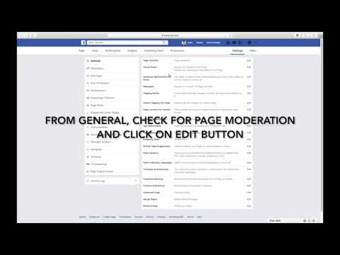 HOW TO BLOCK WORDS ON YOUR FACEBOOK PAGE