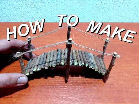 How to make mini wood bridge for fairy gardens
