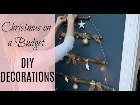 DIY CHRISTMAS DECORATIONS & CHRISTMAS ON A BUDGET   BRANCH CHRISTMAS TREE   KERRY WHELPDALE