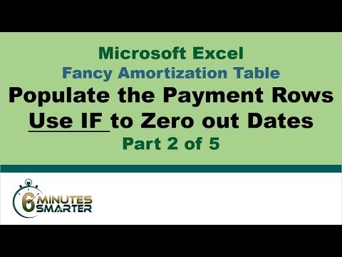 Amortization Table in Excel (Part 2 of 5) - Populate the Payment Rows