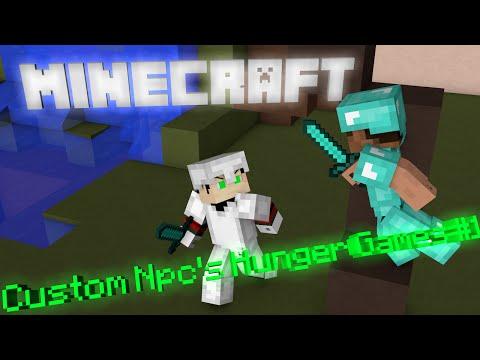 Minecraft- Custom NPC's Hunger Games #1