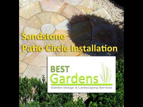 Sandstone Patio Circle Installation