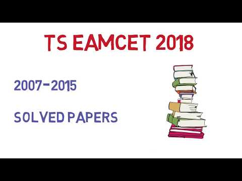 TS EAMCET 2018 || PREVIOUS YEAR PAPERS|| SOLVED