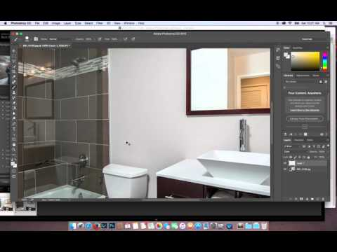 Bathroom Mirror Reflection Mask for Real Estate Photography