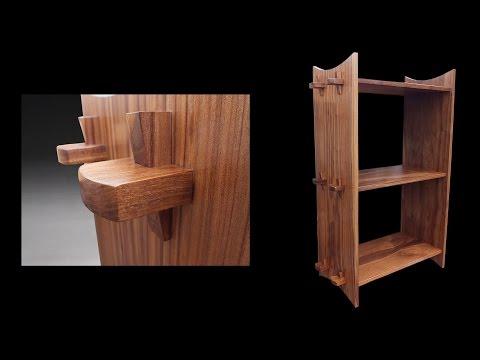 Building a Bookshelf Using a Wedged Through Tenon