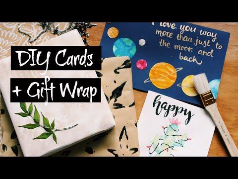 DIY Cards + Gift Wrap - 7 of 12 DIYs of Christmas | Natasha Rose