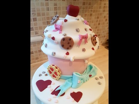Birthday Cake Trailer on how to make this Giant Cupcake