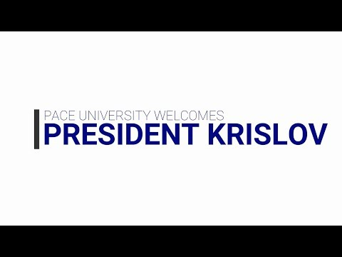 Pace Welcomes President Krislov