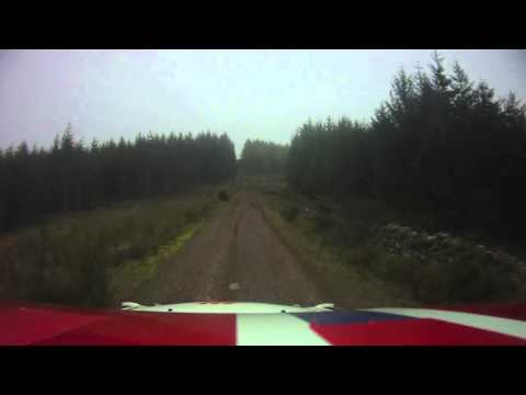 Andreas Mikkelsen Rally Scotland 2010 Pre-Event Test