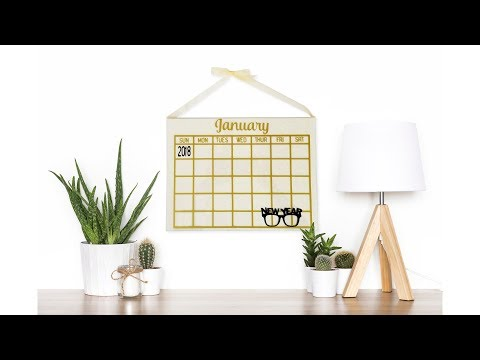 Create Your Own Reusable Calendar With ScanNCut