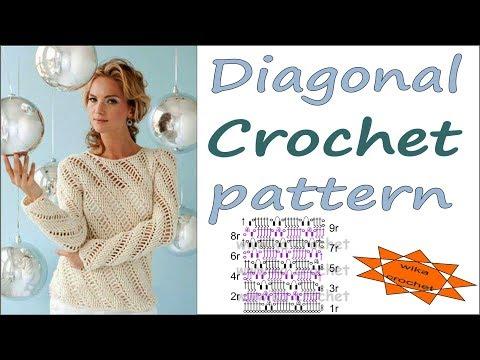Diagonal Crochet pattern Back Post Double Crochet Stitch front Post Double Crochet WIKA croceth