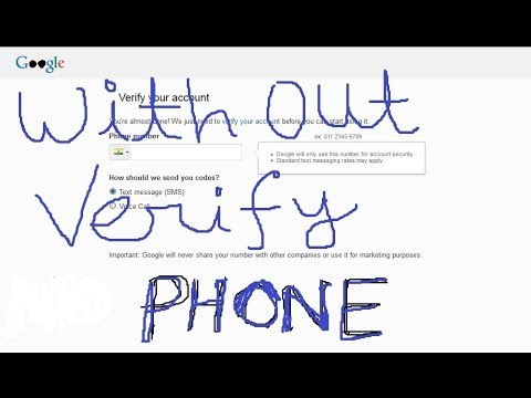 Sign Up Google or Verify Gmail Account without Cell Phone Number Verification 2015