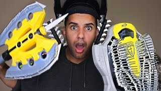 MOST DANGEROUS TOY OF ALL TIME 4.0!! (EXTREME NERF GUN / ZING BOW EDITION!!) MELEE EDITION!!!