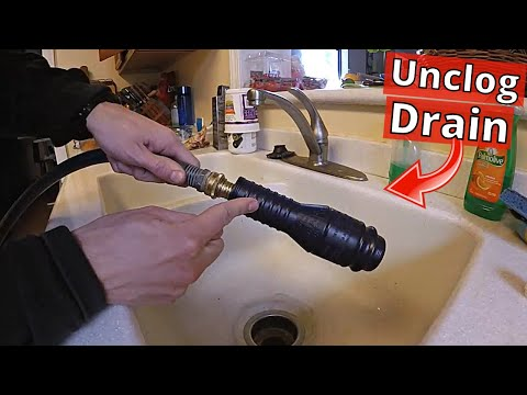 How To Unclog Kitchen Sink Drain in 5 minutes! Easy! -Jonny DIY