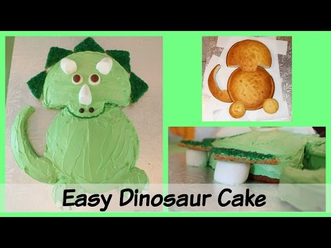 Easy Triceratops Dinosaur Birthday Cake