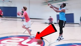 HALFCOURT SHOT WAGER VS. LAMELO BALL! INSTAGRAM AND BBB GEAR WAGER!