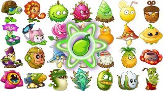 All Premium Plants Power-Up! in Plants vs Zombies 2 (Chinese Version)
