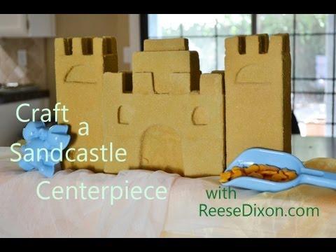 Crafts for Summer - A Sandcastle Centerpiece!
