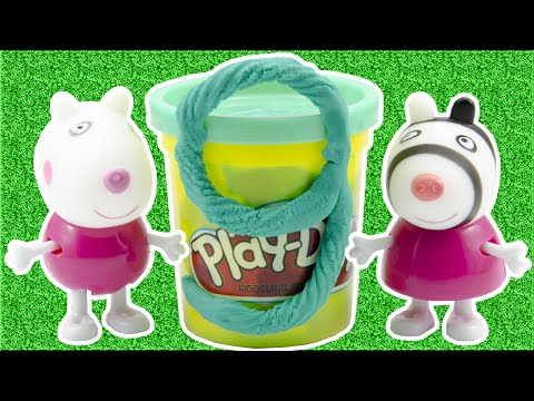 Play Doh Stop Motion Peppa Pig Learn to Count Numbers 1 to 10 for Kids Babies