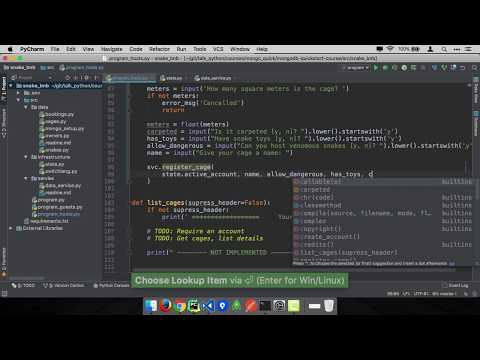 MongoDB and Python Quickstart (10/21): Demo: Register a cage