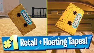 Collect the Visitor recording on the Floating Island and in Retail Row - Fortnite (Out Of Time)