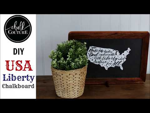 Chalk Couture  USA Liberty Chalkboard  video Youtube