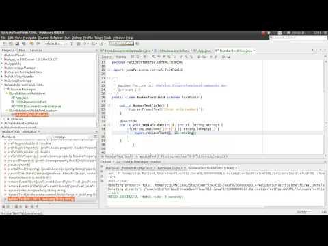 06 - JavaFX Tutorial - Validate TextFields FXML