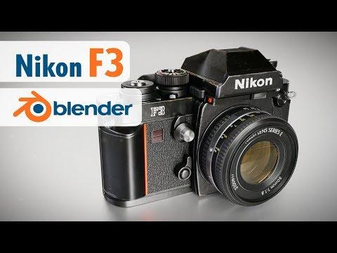 Nikon F3 Blender 3D modeling time-lapse