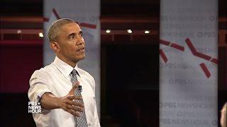Obama on Syrian refugee radicalization, veteran homelessness