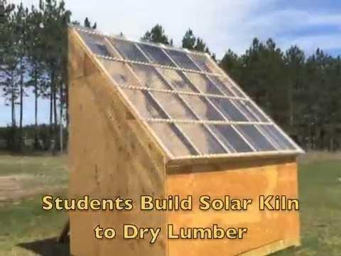 Northern Waters Environmental School's Solar Kiln