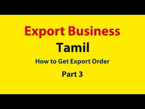 How to get export orders in india, Tamil ( Part 3)  | Export Training | Export Business