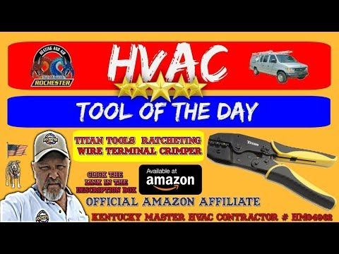 Titan Tools 11477 Ratcheting Wire Terminal Crimper : HVAC Tool of the Day