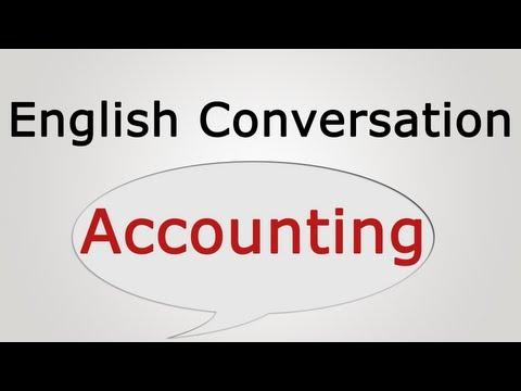 English conversation: Accounting