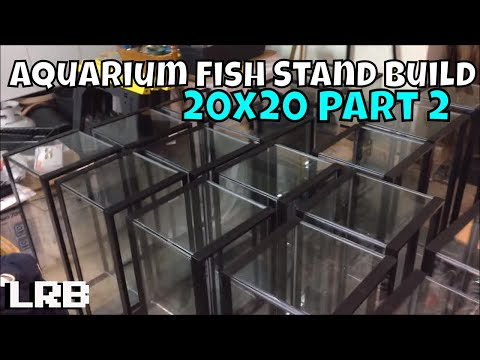 20x20 long Aquarium Stand Rack Build Part 2 Construction for Freshwater Fish Tanks Ornamental Shrimp