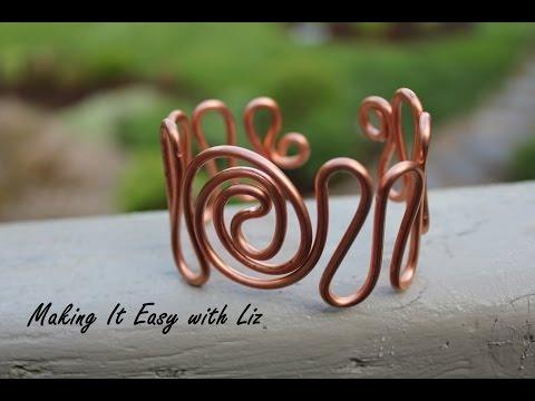 Easy Wire Work Cuff Bracelet -