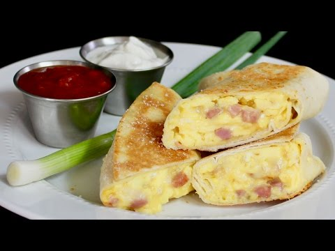 Breakfast Burritos (Ham and Cheese) with Michael's Home Cooking