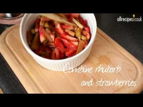 Light panna cotta with strawberry rhubarb compote recipe video