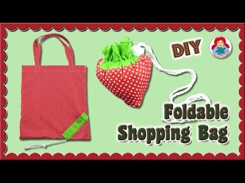 DIY | Foldable Shopping Bag 'Strawberry' • Sami Dolls Tutorials