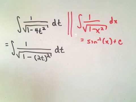 Integration Using Inverse Trigonometric Functions - Ex 1