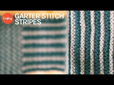 Garter Stitch Stripes   Simple Colorwork Knitting Tutorial with Anne Berk