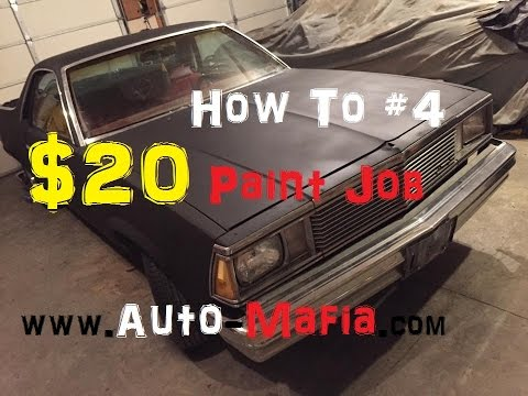 How To: The $20 Flat Black Paint Job