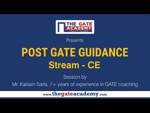 Civil Engineering    Post GATE Guidance for M.Tech in IIT/NIT & PSU jobs