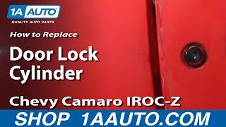 How To Install Replace Door Key Lock Cylinder 82 92 Chevy Camaro Iroc