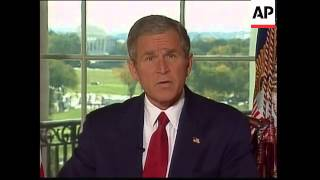 Download Bush address on military action in Afghanistan Video