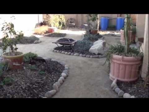 River rock garden path and garden bed project update
