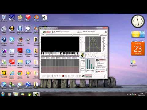 How to create a midi file for Synthesia using Audiotomidi and wav files.