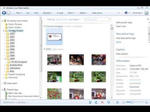 Part 2 - Using Windows Live Photo Gallery in Digital Scrapbooking
